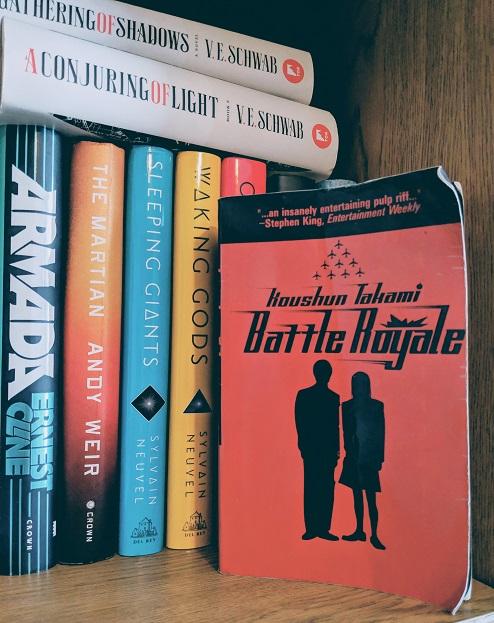 Battle Royale on a bookshelf