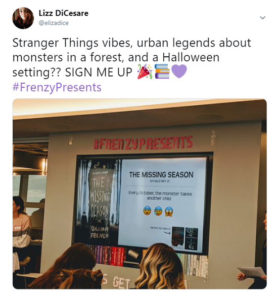 The Missing Season tweet